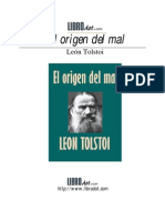 LIBRO - Tolstoi León - El Origen del mal