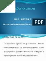 PRESSÕES ANORMAIS  -  Ar Comprimido