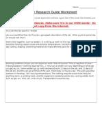 career research guide worksheet2013