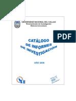 Catalogo Informes Investigacion - 2006
