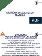 Material Ergonomia e Segurança do Trabalho