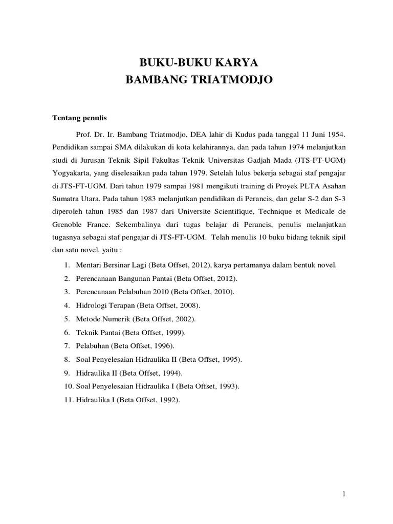 Ebook Metode Numerik Bambang Triatmodjo