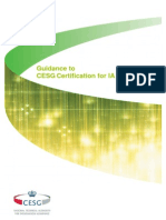 Guidance to Cesg Certification for Ia Professionals