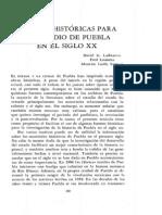 El Estudio de Puebla en El Siglo Xx