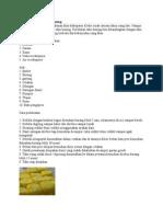 Proses Pembuatan Tahu Kuning