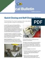 TchB36 - Quick Closing Valves & Self Closing Valves