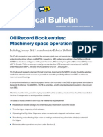 Oil Record Book entries: