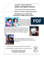 Parents' Night Out -Social Media and Digital Literacy January 15th 2014