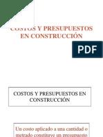 Costos y Presupuestos en Construcción