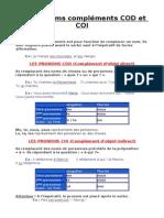 Théorie pronoms compléments COD et COI