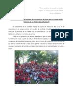 Gacetilla informativa Juventud Radical en Lucha