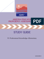 Aepa Study Guide- Professional Knowledge preparation to take the test to receive certification