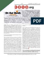 11213.org Issue 1 - 19 Kislev 5774
