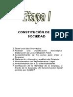 ETAPAS DE CONSTITUCIÓN