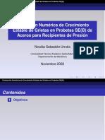 Evaluación Numérica de Crecimiento Estable de Grietas en Probetas SE(B) de Aceros para Recipientes de Presión