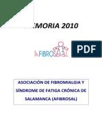 Asociación Fibromialgia - Memoria 2010