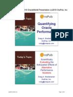OraPub Quantifying OOW 2010