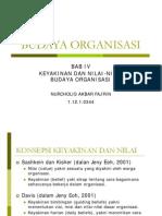 Budaya Organisasi Bab IV