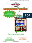 Chameleon Paradize Two Player Ticket Redemption Game Service Manual Baytek