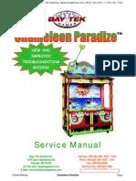 Chameleon Paradize Two Player Ticket Redemption Game Service Manual Baytek