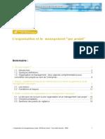 """L'organisation et le management """"par projet"""""""