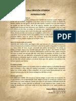 P. Dávila (Introducción del Libro ORACIÓN CÓSMICA)
