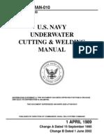 US Navy Underwater Cutting Welding