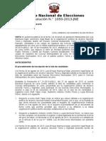 JNE dispone continuidad de Marité Bustamante en lista de TyD