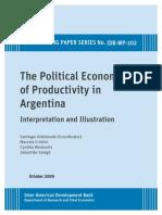 URBIZTONDO La economia politica de la productividad en Arg.pdf