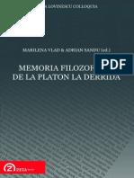 Marilena Vlad Si Adrian Sandu (Ed.) Memoria Filozofilor Enc
