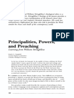 Principalities Powers and Preaching-On Stringfellow