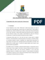 A importância das redes sociais para a democracia - MARCELO SALES SANTIAGO OLIVEIRA