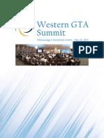 Western GTA Summit Report