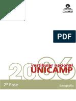 Geografia Exemplo de Respostas Unicam