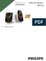 Philips Multimedia Speakers 2.0 SPA7210-17 User Manual