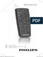 Philips Remote SRP1003-27 User Manual