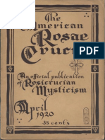 AMORC - The American Rosae Crucis, April 1920