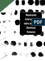 Declaración Internacional sobre Datos Genéticos Humanos (UNESCO, 16oct2003)