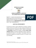 Sentencia Sancion c.s. Dela j.