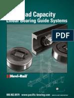 Linear bearing  guide system CRT Hevi Rail
