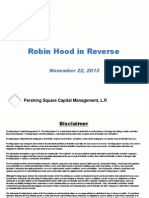 Pershing Square Capital - Robin Hood In Reverse
