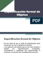 Especificación formal de Objetos