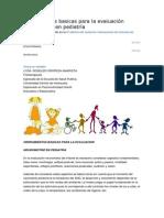 Herramientas basicas para la evaluación neuromotriz en pediatría