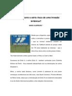 Textos IL - Colaboradores - Col - MG - Argentina corre o sério risco de uma invasão britânica