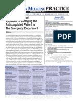 EMP Enero 2011 Anticoagulacioìn en urgencia