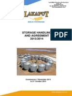 Storage Handling Agreement 2013-2014
