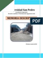 Memoria Descriptiva Manuel Arevalo