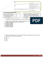 4ª avaliação - matemática 8º ano - tarde