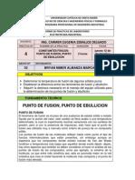 PRACTICA N° 4 PUNTO DE FUSION Y EBULLICION