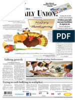 The Daily Union. November 26, 2013